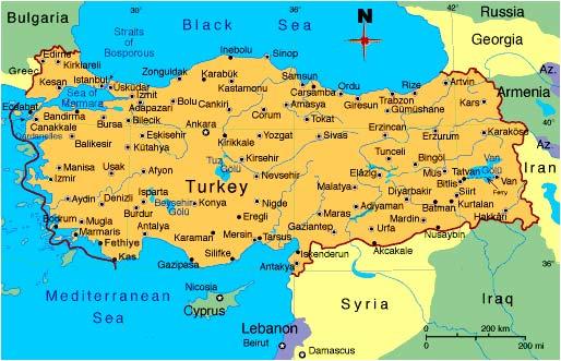 Карта Турции, недвижимость Турции