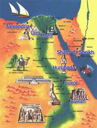Египет, карта Египта