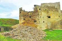 В Каменец-Подольской крепости разрушалась башня
