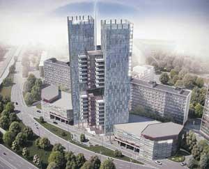 Торгово-офисный центр на Ленинградской площад