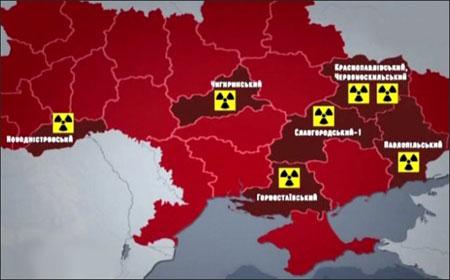 Атомная карта Украины