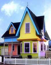 Точная копия домика из мультфильма 'Вверх'