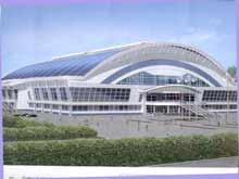 Строительство ледового стадиона