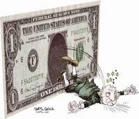 Падающий доллар убьет привязанную к нему гривну