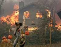На Оболоне сгорел дом