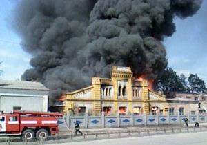 Пожар на складе в Харькове