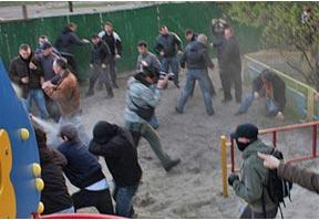 разгон протестующих